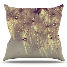 Sparkles of Gold by Ingrid Beddoes Outdoor Throw Pillow