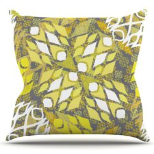 Wonderful Sandy Signs by Miranda Mol Outdoor Throw Pillow