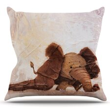 Cheap The Elephant with the Long Ears by Rachel Kokko Outdoor Throw Pillow
