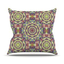 Plum Lace Outdoor Throw Pillow
