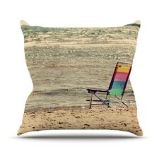 Beach Chair Outdoor Throw Pillow