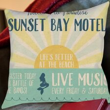 Savings Beach Bar 1 Outdoor Throw Pillow