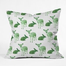 Morgan Kendall Woodland Animals Throw Pillow
