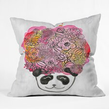 Dash And Ash Panda Flower Throw Pillow