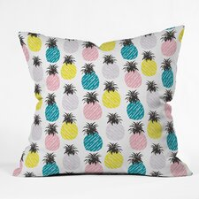 Zoe Wodarz Pineapple Pastel Throw Pillow