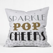 Zoe Wodarz Sparkle Pop Cheers Indoor/Outdoor Throw Pillow