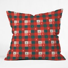 Zoe Wodarz Mini Tree Plaid Indoor/Outdoor Throw Pillow