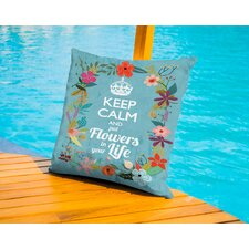 Keep Calm Outdoor Throw Pillow