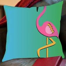 Flamingo Print Copy Outdoor Throw Pillow