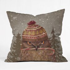 Terry Fan Christmas Owl Indoor/Outdoor Throw Pillow
