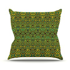 Wonderful Animal Temple by Pom Graphic Design Outdoor Throw Pillow