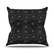 Flowers by Julia Grifol Outdoor Throw Pillow