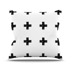 Swiss Cross by Skye Zambrana Outdoor Throw Pillow