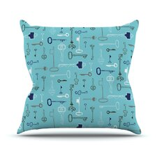 Keys by Laurie Baars Outdoor Throw Pillow