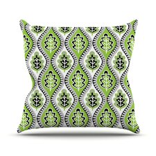 Oak Leaf by Jacqueline Milton Outdoor Throw Pillow