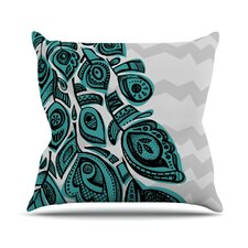 Peacock by Brienne Jepkema Outdoor Throw Pillow