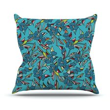 Paper Leaf by Michelle Drew Outdoor Throw Pillow