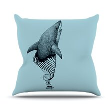 Shark Record by Graham Curran Outdoor Throw Pillow