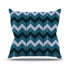 Chevron Dance by Nick Atkinson Outdoor Throw Pillow