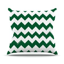 Candy Cane Outdoor Throw Pillow