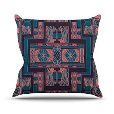 Golden Art Deco Outdoor Throw Pillow