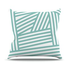 Comparison Stripes Outdoor Throw Pillow