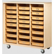 Tote Classroom Cabinet with Trays