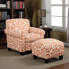 Clarke Arm Chair and Ottoman
