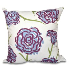Cherry Spring Floral 1 Outdoor Throw Pillow