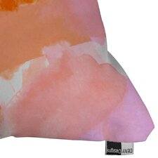 Bargain Currans Covered in Blush Outdoor Throw Pillow