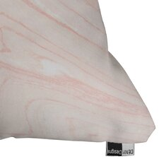 Currans Blush Marble Outdoor Throw Pillow