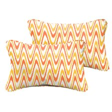 Augusta Indoor/Outdoor Synthetic Lumbar Pillow (Set of 2)