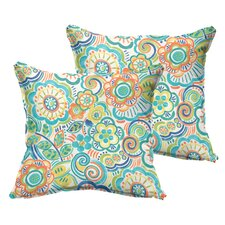 Beatrice Indoor/Outdoor Throw Pillow (Set of 2)