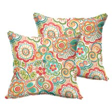 Annette Indoor/Outdoor Throw Pillow (Set of 2)