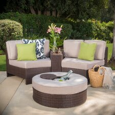 Daniela 4 Piece Sectional Seating Group with Ice Bucket Ottoman