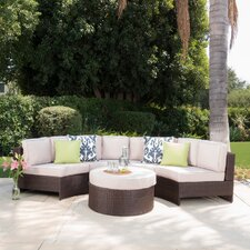 Daniela 5 Piece Sectional Seating Group with Ottoman