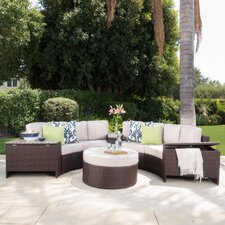 Daniela 8 Piece Sectional Seating Group with Ottoman
