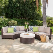 Today Sale Only Daniela 6 Piece Sectional Seating Group with Ottoman