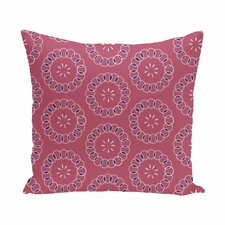 Wintergreen Floral Print Outdoor Pillow