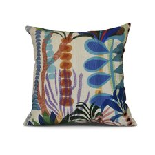 Braylen Jungle Floral Print Outdoor Throw Pillow