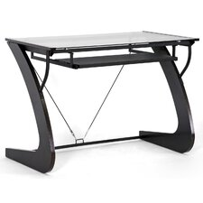 """41.2"""" W Calla Modern Computer Table with Keyboard Tray"""