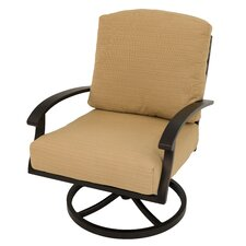 Perrinton Spring Swivel Rocking Chair with Cushions