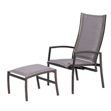 Giada Adjustable High Back Lounge Chair and Ottoman