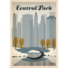 Central Park NYC Graphic Art in Grey