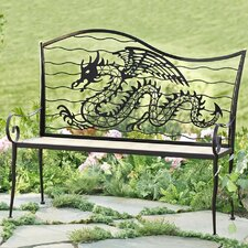Dragon Metal Garden Bench