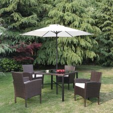 Patio Wicker Outdoor 6 Piece Dining Set