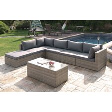 Wicker 7 Piece Deep Sectional Group Set