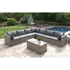 Wicker 8 Piece Sectional Seating Group Set