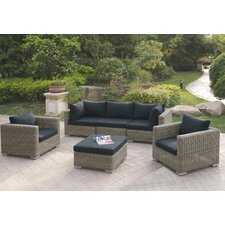 6 Piece Deep Seating Group with Cushion