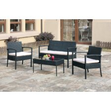 Herry Up 4 Piece Deep Seating Group with Cushion